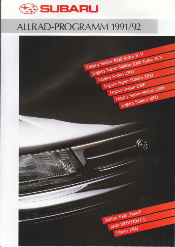 Program 4x4 brochure, 12 pages, German language, 1991/92