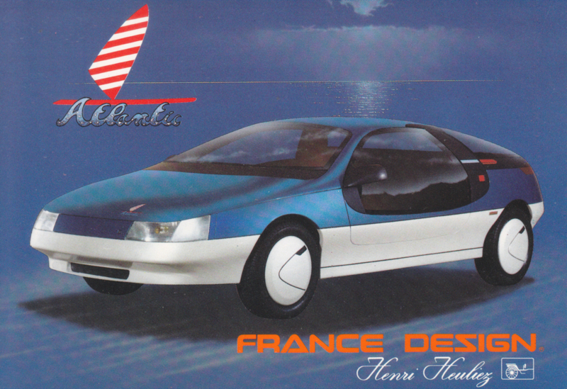 Heuliez Atlantis, advertising postcard, French, 1986