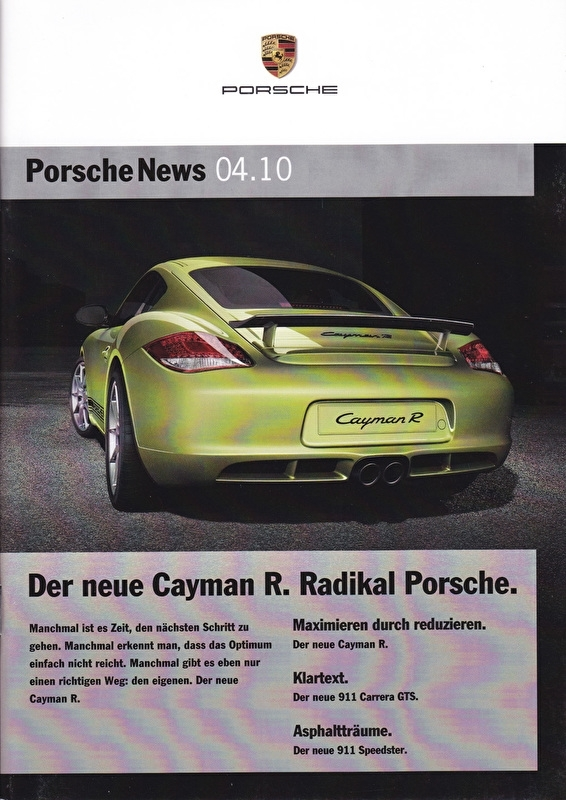 News 04/2010 with Cayman R, 24 pages, 12/10, German language