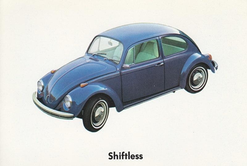 Beetle Automatic, USA postcard, 1970, #36-11-05021