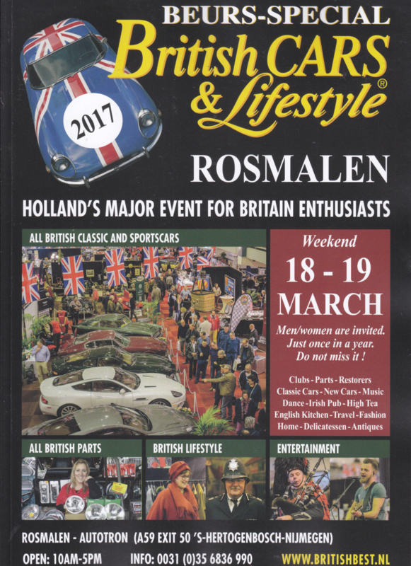 British Cars & Lifestyle 2017 ,  A4-size, 84 pages, Dutch language