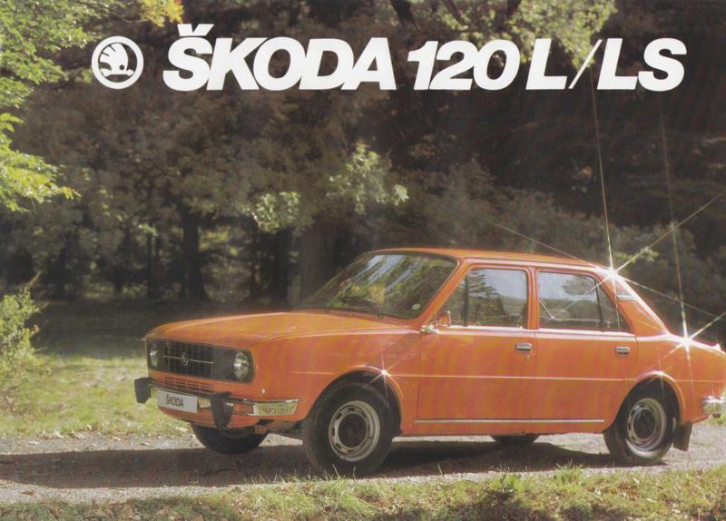 120 L/LS Sedan leaflet, 2 pages, English language, about 1983