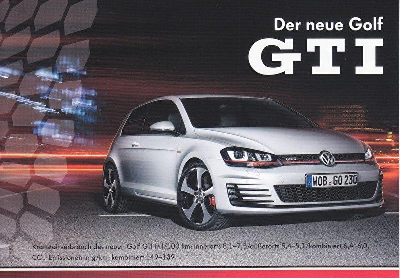 Golf GTI, A6-size postcard, German, 2013