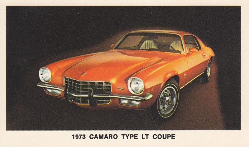 Camaro Type LT Coupe,  US postcard, standard size, 1973
