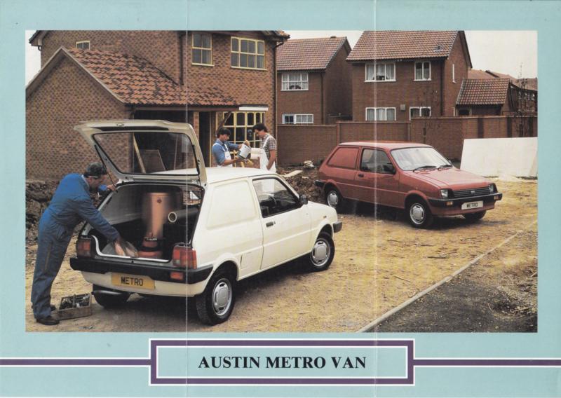 Metro Van folder, 6 pages, smaller size, about 1985, Dutch language