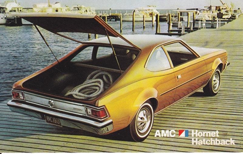 Hornet Hatchback, US postcard, standard size, 1973