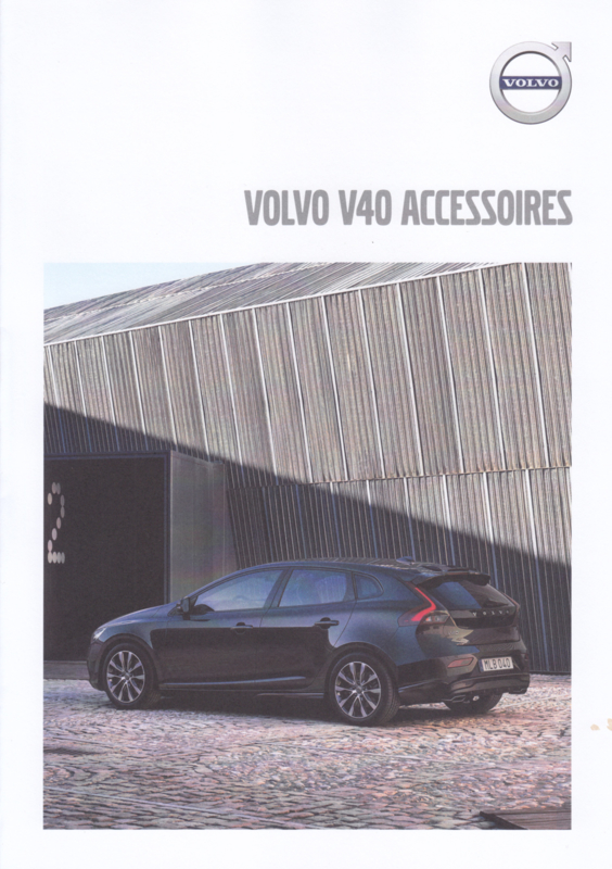 V40 accessories brochure, 4 pages, MY19, 06/2018, Dutch language