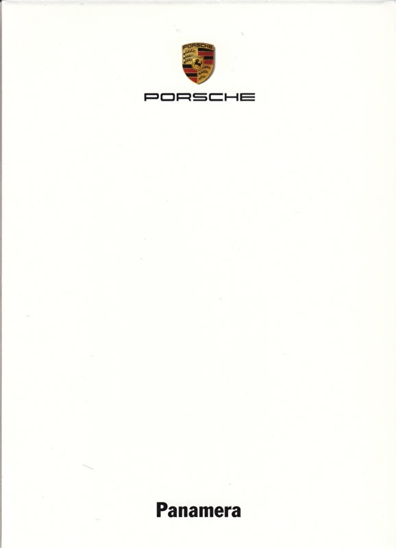 Panamera, A6-size set with 6 postcards in white cover, 2009, WSRP 0901 03S5 00