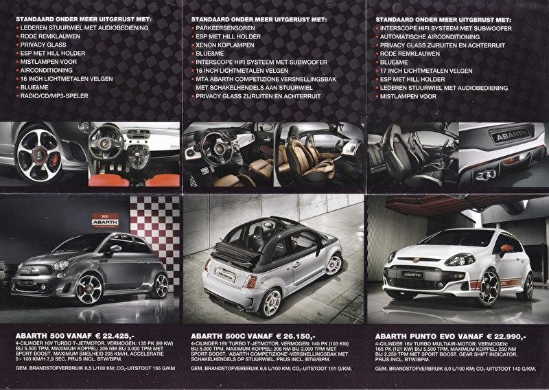 Abarth Brochure Prospekt Folder Autocatalogo Depliant