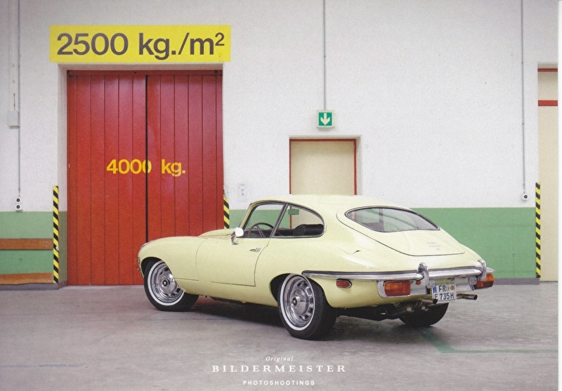 E-Type Coupe, continental size postcard, Bildermeister, 01/2013