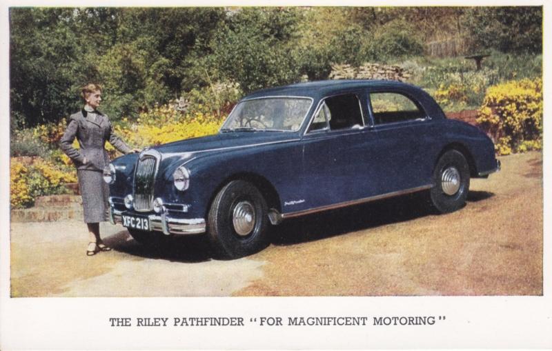 Pathfinder 4-door Saloon, standard-size postcard, English language, end 1950s