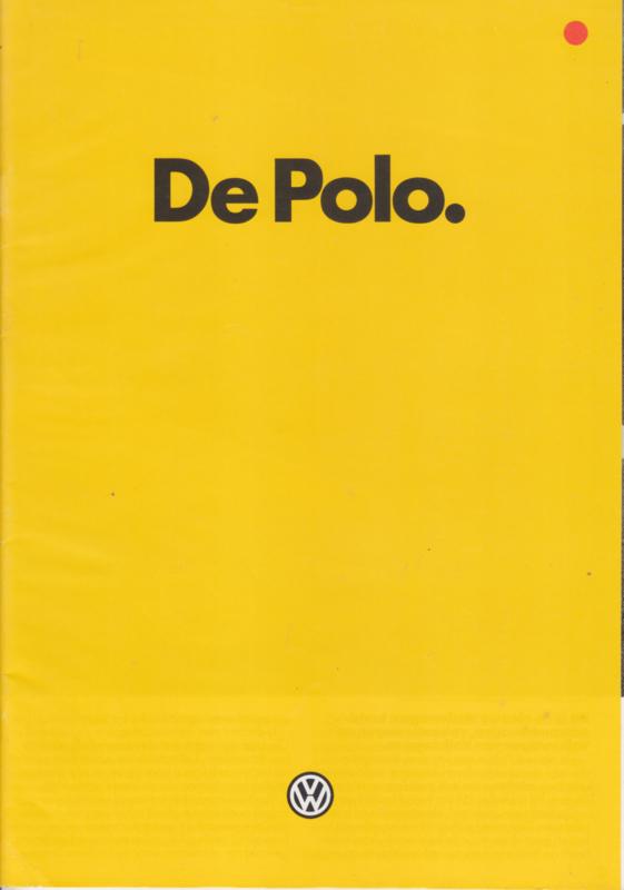 Polo 3-door brochure, A4-size, 24 pages, 1/1982, Dutch language (Belgium)