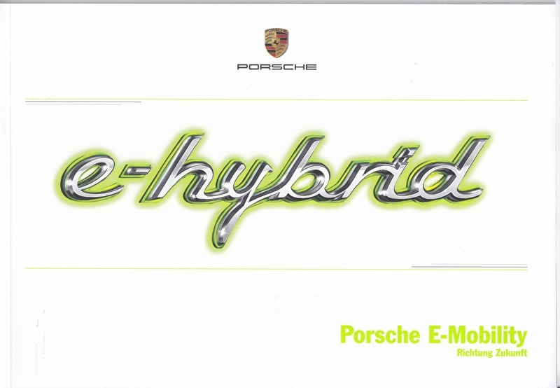 Panamera E-hybrid brochure, 36 pages, 04/2013, German