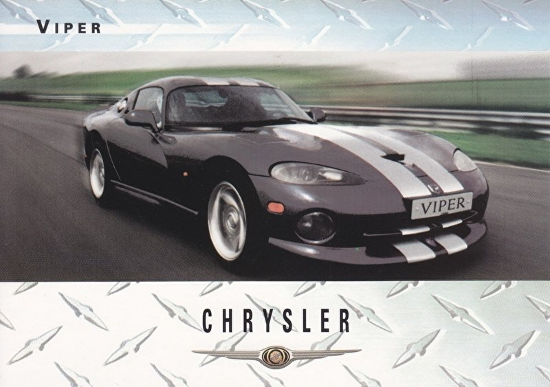 Viper Coupe, A6-size postcard, about 2000, issue Chrysler UK, English language