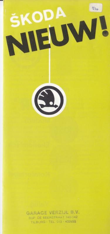 105/120 Sedan brochure, 10 pages, Dutch language, about 1983