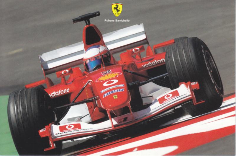 Formula One autogram postcard with driver Rubens Barrichello, 2003, # 1951