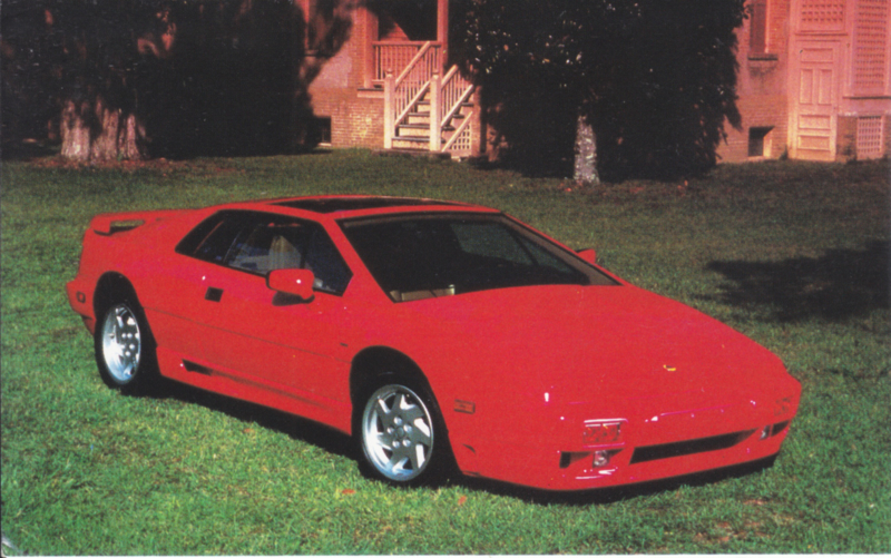 Esprit Turbo SE, standard size postcard, about 1990, USA issue