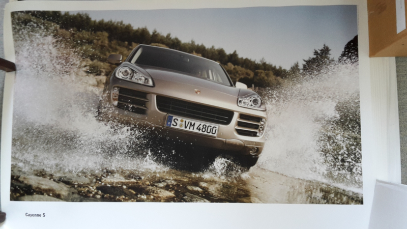 Cayenne S large original factory poster, published 10/2006