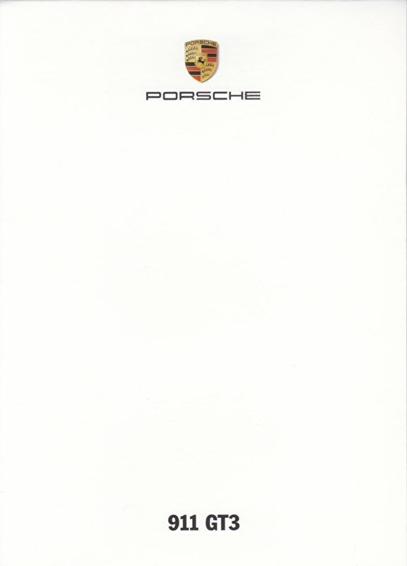 911 GT3,  A6-size set with 6 postcards in white cover, 2014, WSRG 1401 02S9 00, no text