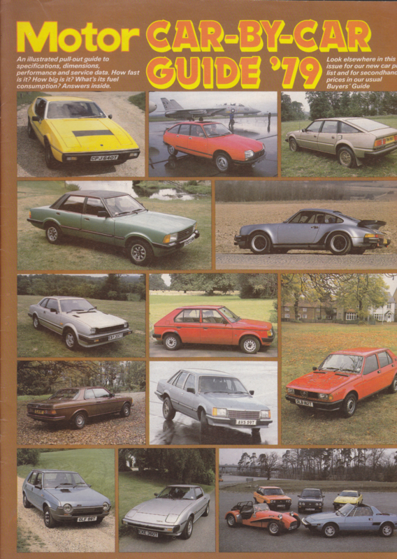 Motor Car-by-car Guide 1979, 28 pages, English language