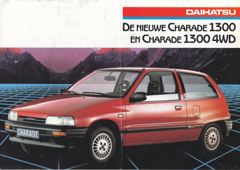 Charade 1300/1300 4WD brochure, 6 pages., about 1988, A4-size, Dutch language