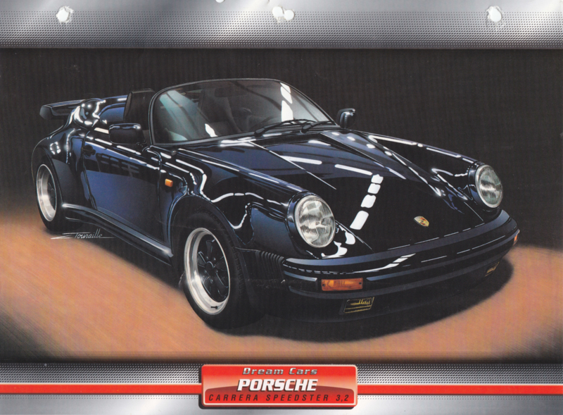 Porsche 911 Carrera Speedster 3.2, 2 sided sheet, German language, D6 622 05-09