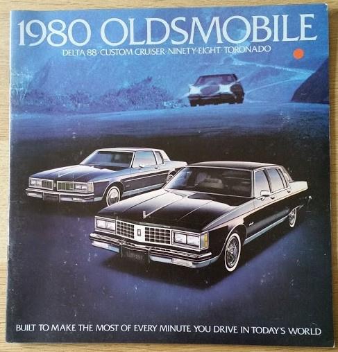 Toronado/98/Delta 88/Custom Cruiser brochure 1980, 28 large pages, 08/1979, USA