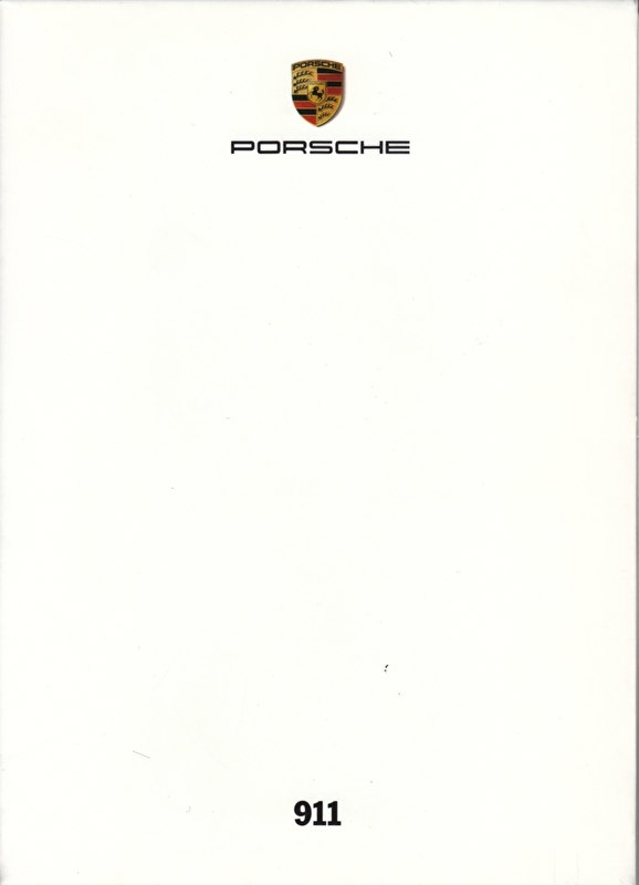 911 Carrera 4 & Targa 4, A6-size set with 6 postcards in white cover, 2009, WSRC 0901 05S6 00