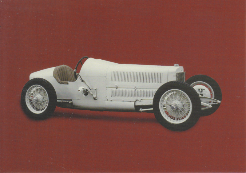Mercedes 8 cilinder racecar 'Monza' 1924, Classic Car(d) of the month 6/2002, Germany