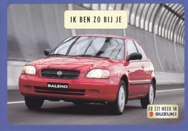 Baleno Sport, DIN A6-size postcard, Dutch language, 1999