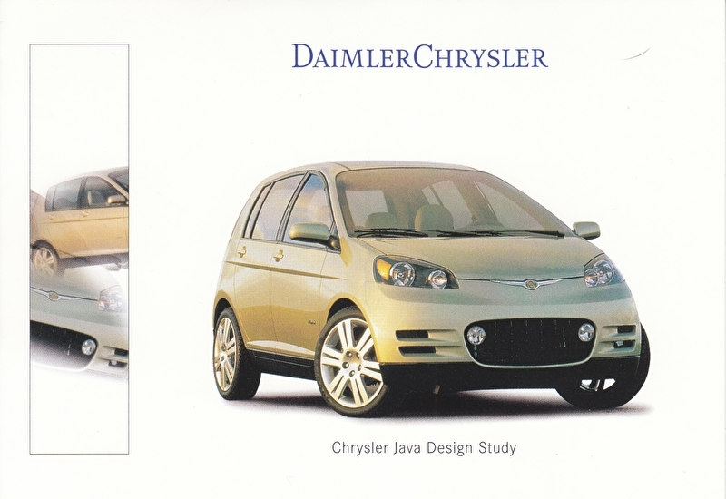 Chrysler Java Design Study, A6-size postcard, IAA 1999, German