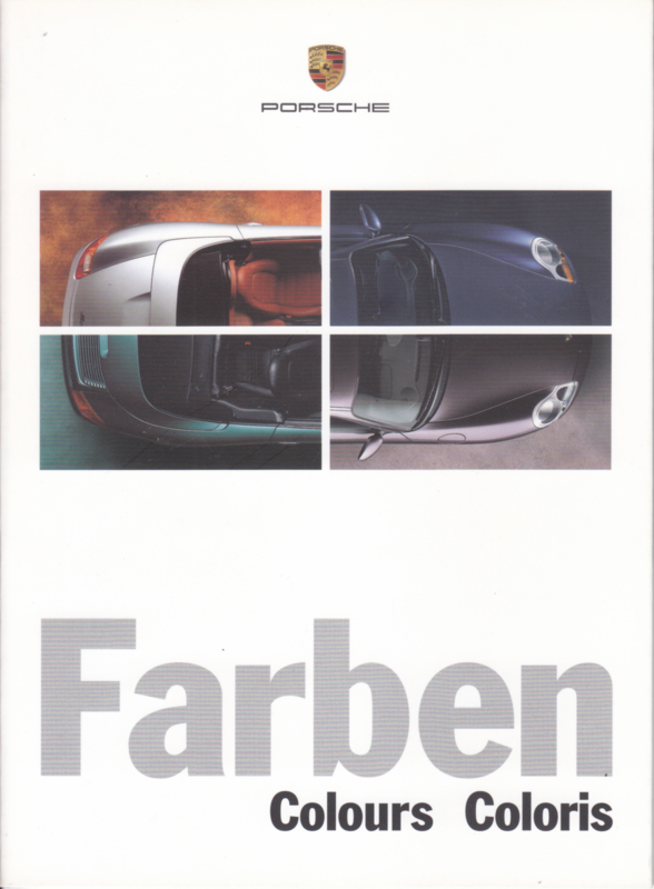 Farben (colours) brochure, 14 pages, 3 languages, 1999