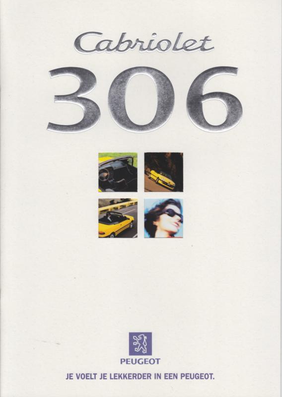 306 Cabriolet brochure, 16 pages, A4-size, 07/1997, Dutch language