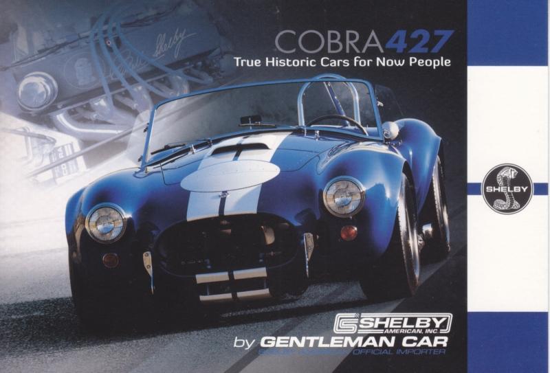 Cobra 427 CSX 6000 postcard,  English language, Belgian issue, about 2014