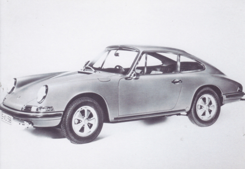 Porsche 911 Coupe, DIN A6-size, unused, Dutch issue, 2008