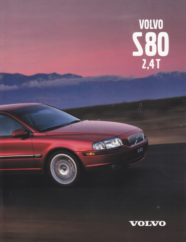S80 2,4 T brochure, 4 pages, 2001, Swedish language