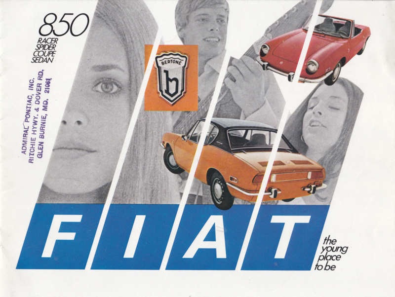 850 Racer/Spider/Coupe/Sedan USA brochure, 12 pages, 10/1969, English language