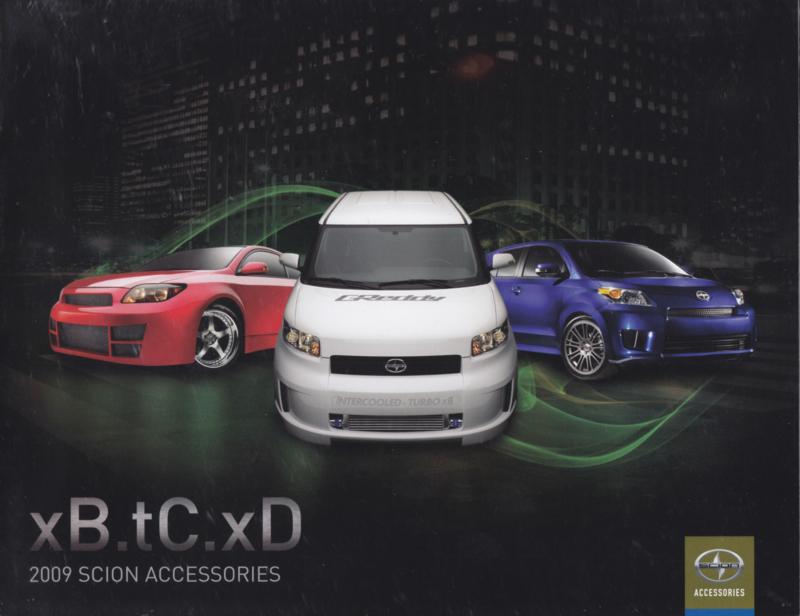 xB/tC & xD accessories brochure, 12 pages, 2009, English language, USA
