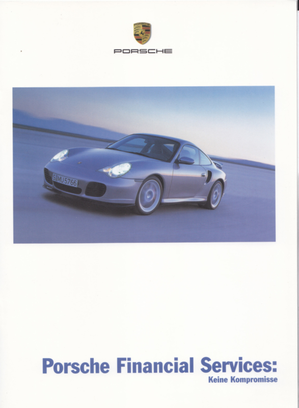 Financial Services brochure, 12 pages, 10/2000, German
