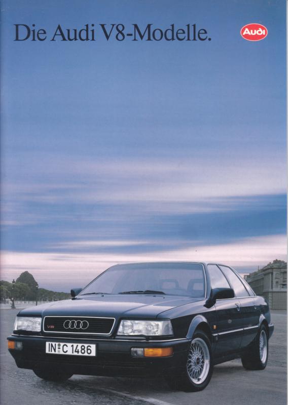 V8 Models brochure, 36 pages, 10/1992, German language
