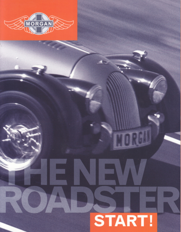 Roadster V6 brochure, 8 pages, almost DIN A4-size, English language