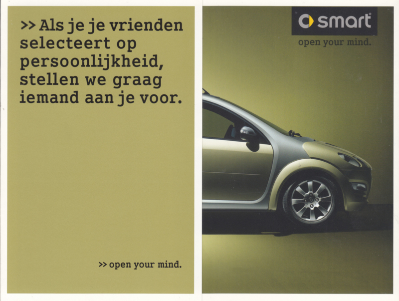 Forfour brochure, 6 pages, 05/2003, Dutch language