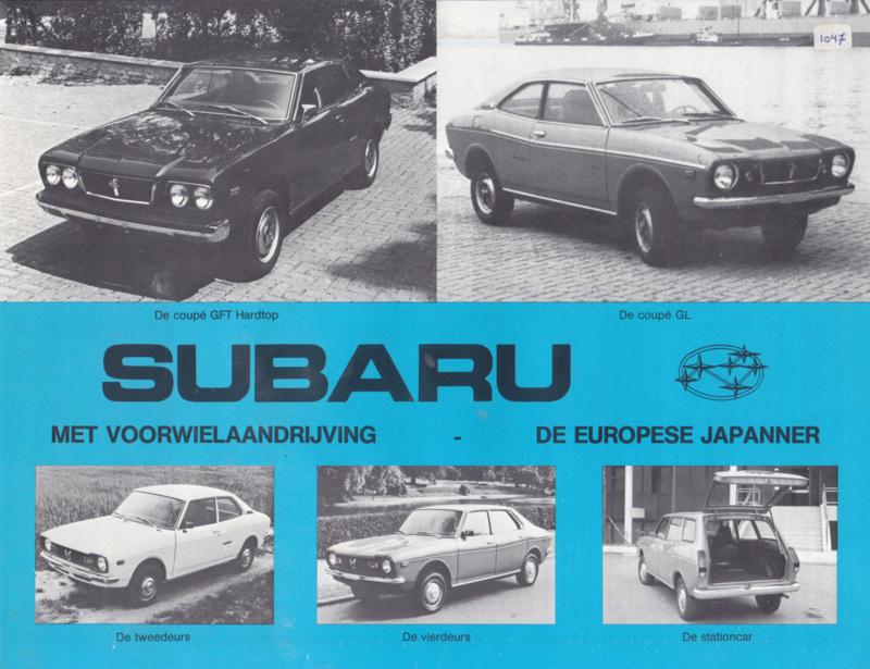 Program leaflet, 2 pages, Dutch language, about 1976