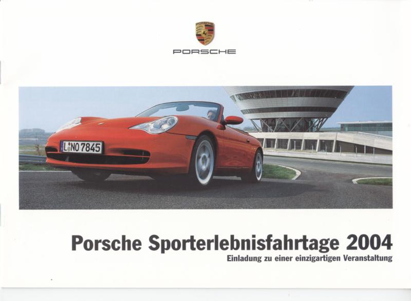 Sporterlebnisfahrtage brochure, 12 pages, 02/2004, German language