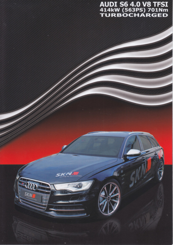 S6 Avant SKN Tuning  brochure, 4 pages, 11/2013, German, DIN A5-size