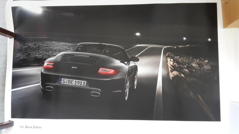 911 Cabriolet Black Edition large original factory poster, published 01/2011