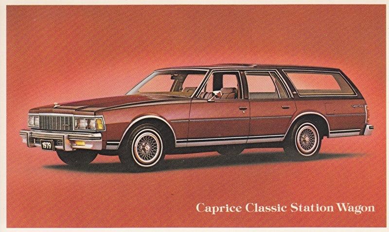 Caprice Classic Station Wagon, US postcard, standard size, 1979