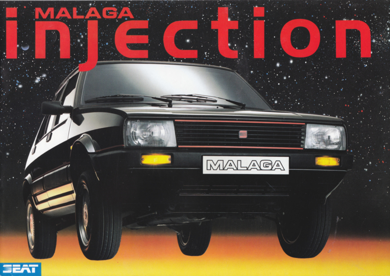 Malaga Injection brochure, 8 pages, German language, 1987