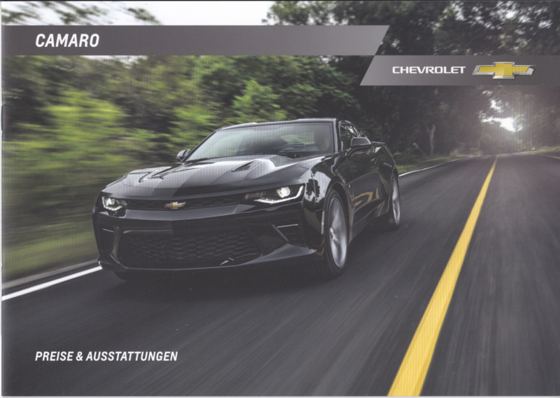 Camaro Prices & Specifications brochure, 12 pages, 01/2017, German language