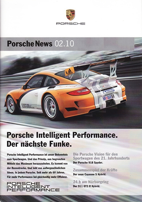 News 02/2010 with Intelligent Performance, 28 pages, 06/10, German language
